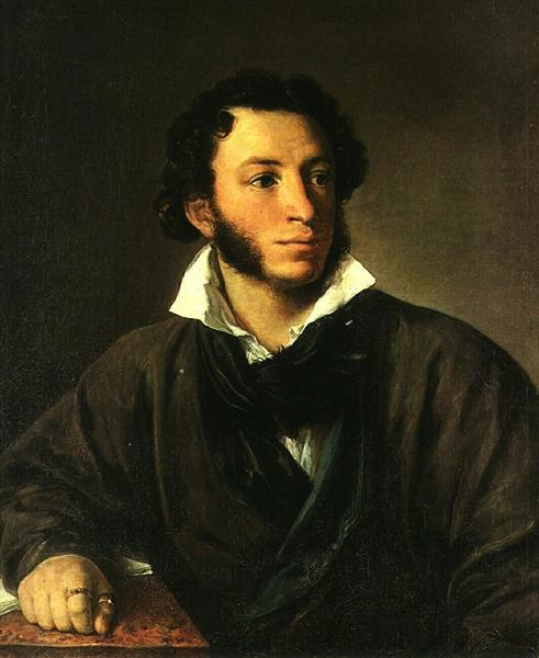 Portrait of Alexander Pushkin - Vasily Tropinin