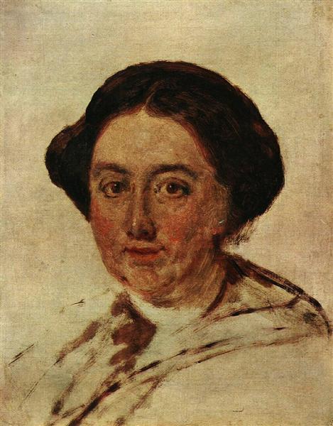 Portrait of E.P. Rostopchin. Etude, 1853 - Vasily Tropinin