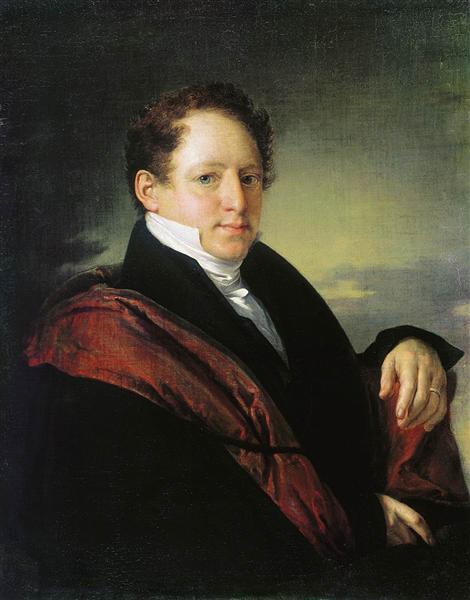 Portrait of Sergei Nechaev D - Vasily Tropinin