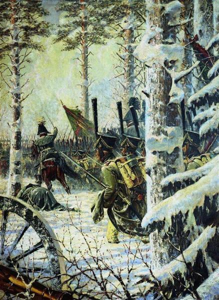 Bayonet Charge. Hurrah-Hurrah, 1887 - 1895 - Vasily Vereshchagin