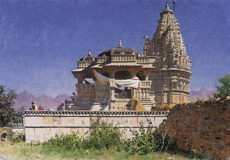 Brahminic temple in Adelnure, 1874 - 1876 - Vasily Vereshchagin