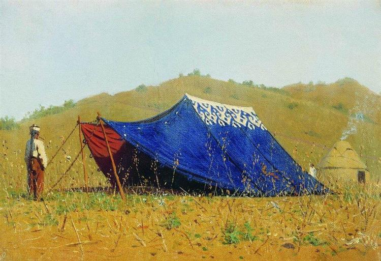 China tent, 1869 - 1870 - Vasily Vereshchagin