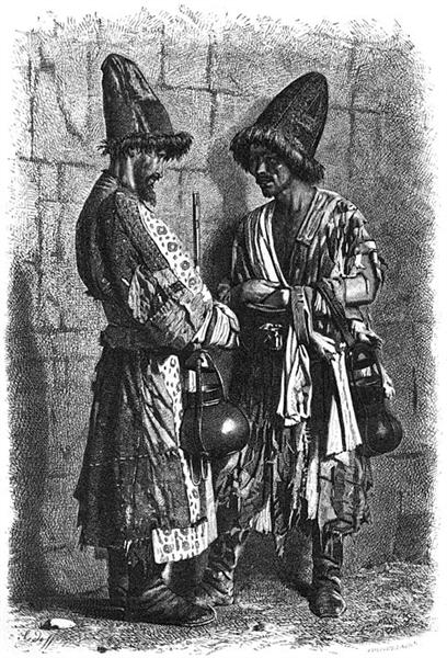 Mendicant dervishes-douvana (holy fools), 1873 - Vasily Vereshchagin