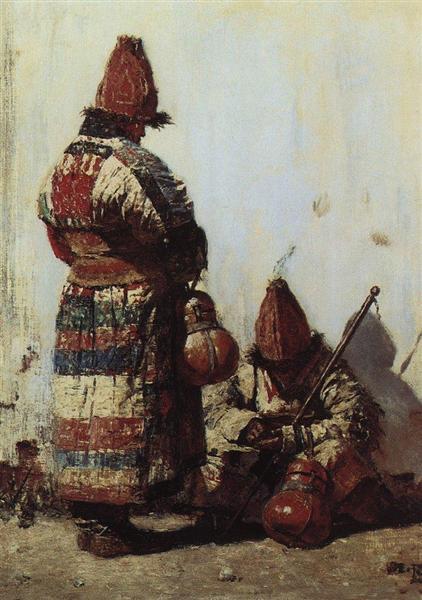 Uzbek dishes seller, 1873 - Vasily Vereshchagin