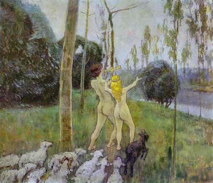 Daphnis and Chloe, 1901 - Віктор Борисов-Мусатов