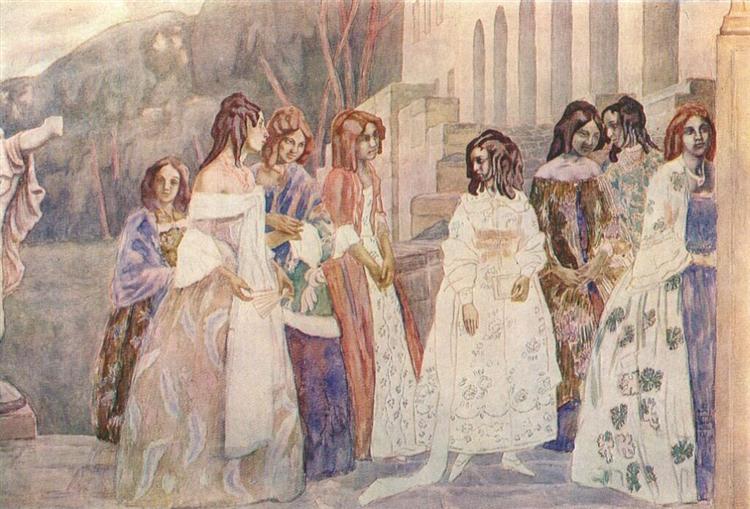 Requiem, 1905 - Victor Borisov-Musatov