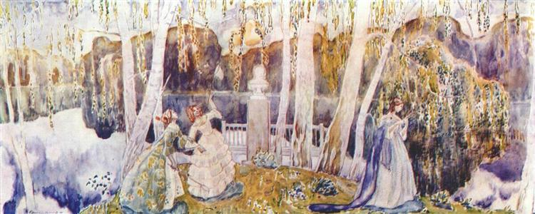 Spring Tale (sketch for a panel), c.1904 - Victor Borisov-Musatov