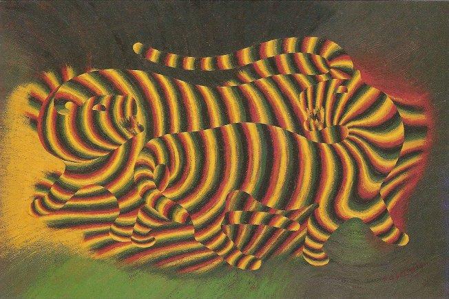 Tigres - Victor Vasarely