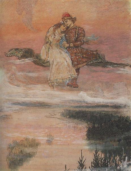 Flying carpet, 1919 - 1926 - Viktor Vasnetsov
