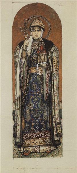 Princess Olga, 1885 - 1893 - Viktor Vasnetsov