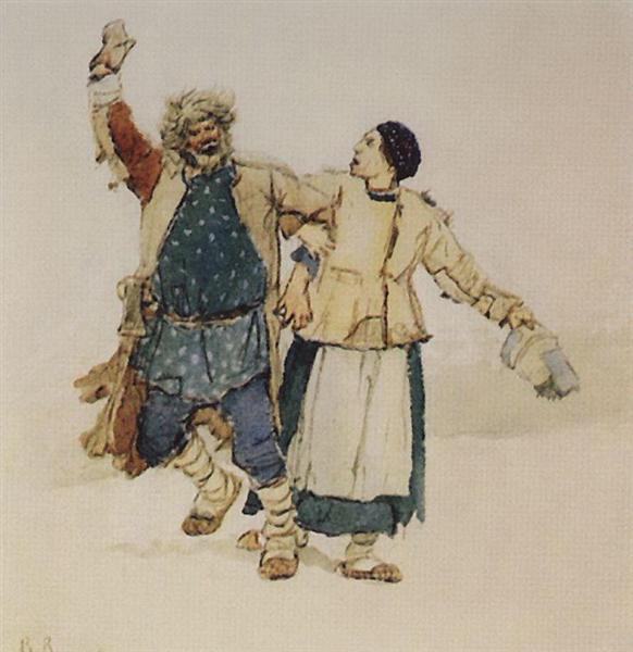 Solitary and Bobylikha, 1885 - Viktor Vasnetsov
