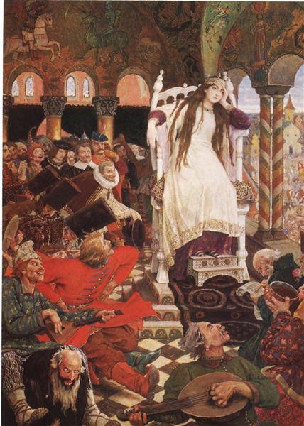 The Unsmiling Tsarevna, 1916 - 1926 - Viktor Vasnetsov