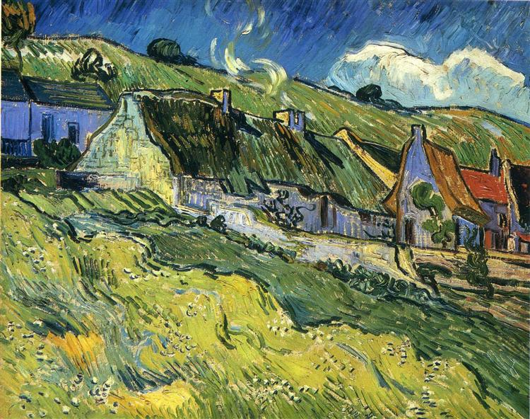 A Group Of Cottages 1890 Vincent Van Gogh Wikiart Org