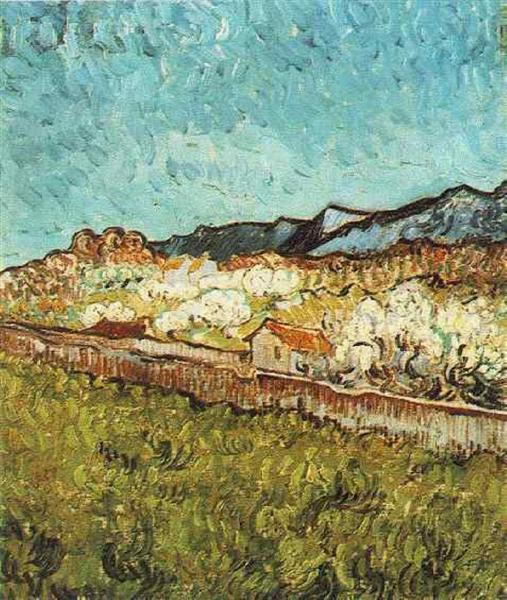At the Foot of the Mountains, 1889 - Vincent van Gogh