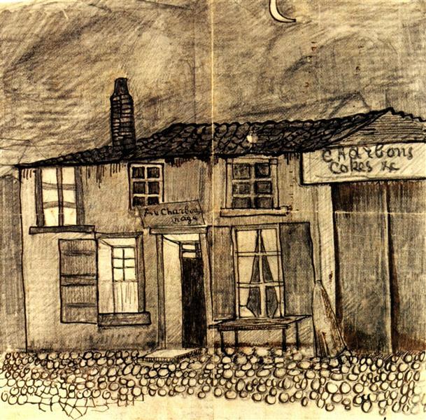 """""""Au Charbonnage"""" Café, 1878 - Vincent van Gogh"""