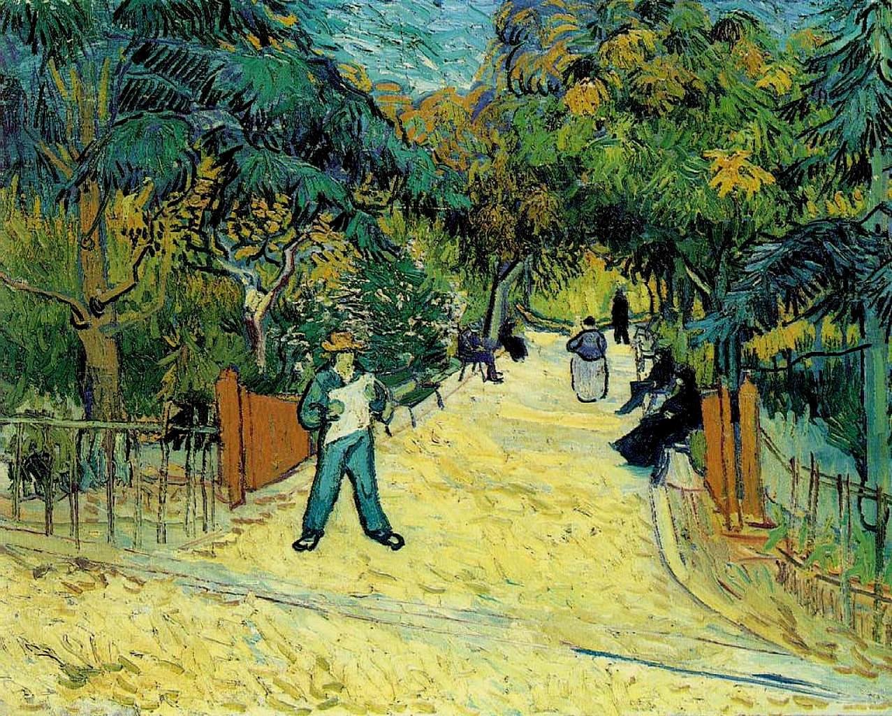 Entrance To The Public Garden In Arles, 1888   Vincent Van Gogh
