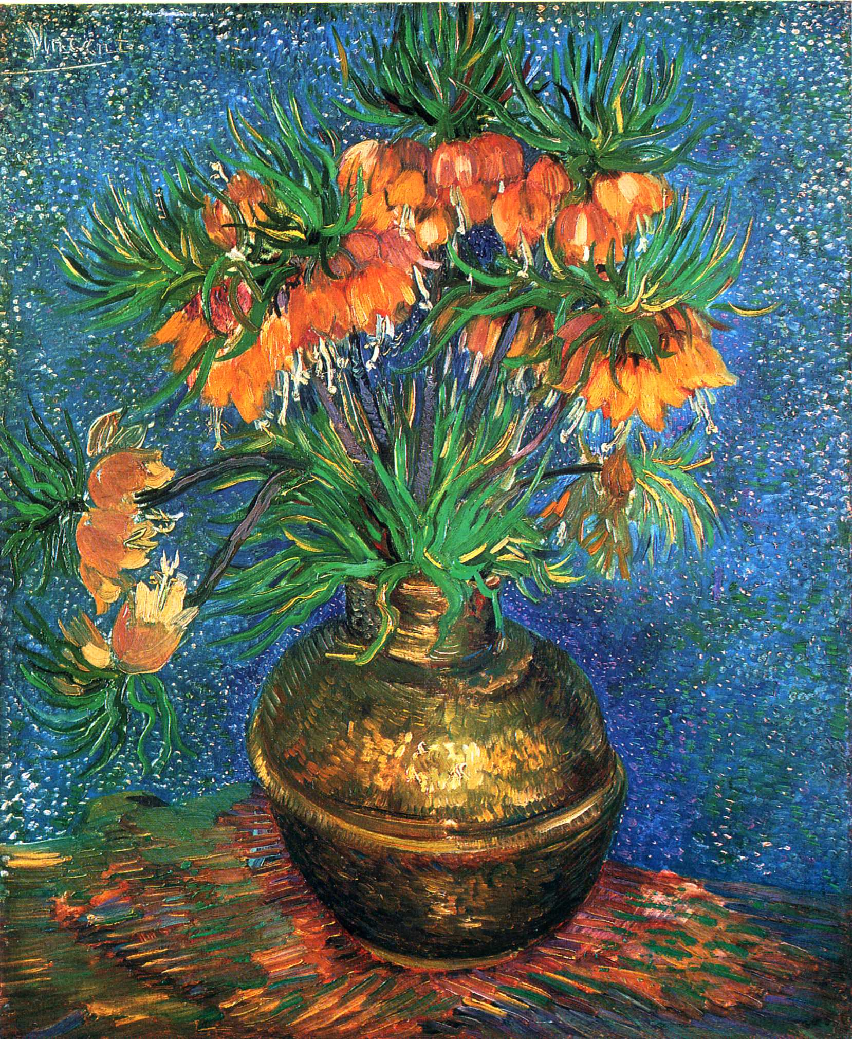 Fritillaries in a Copper Vase Vincent van Gogh WikiArt