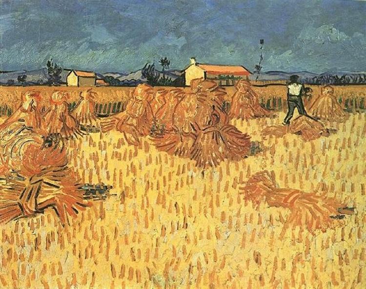 Harvest in Provence, 1888 - Vincent van Gogh