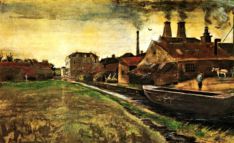 Iron Mill in The Hague, 1882 - Vincent van Gogh