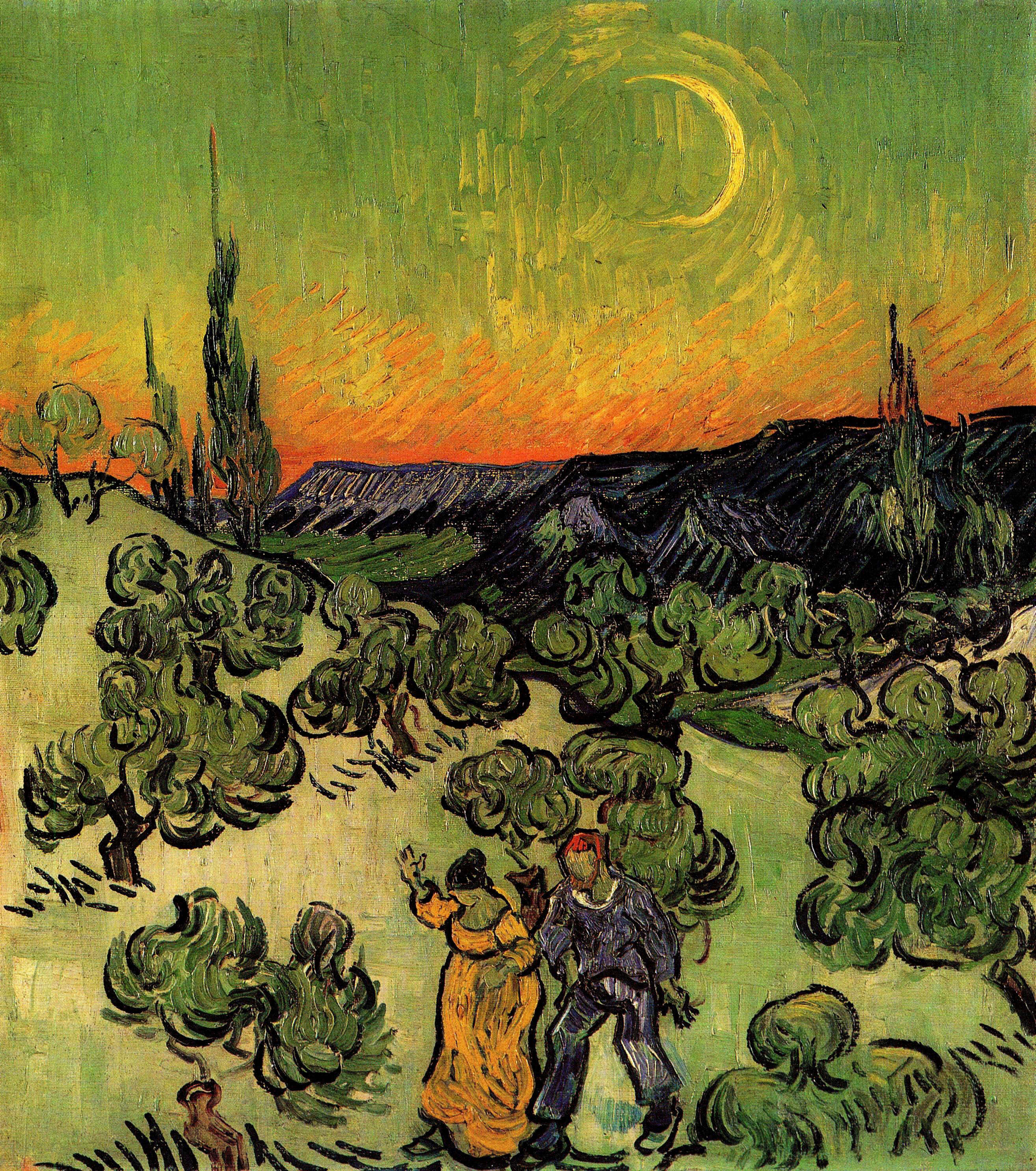 Image result for van gogh walk at dawn