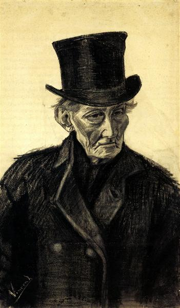 Old Man With A Top Hat 1882 Vincent Van Gogh Wikiart Org