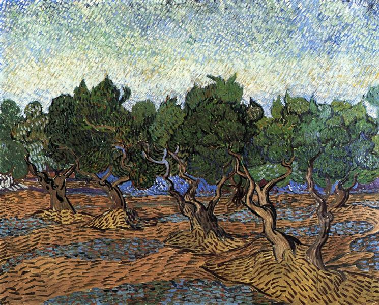Olive grove 1889 vincent van gogh for Van gogh paintings locations