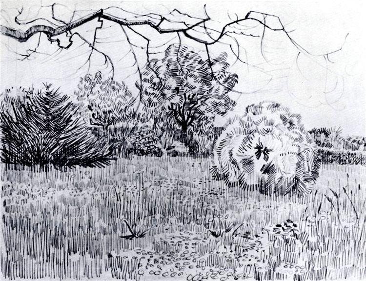 Park At Arles 1889 Vincent Van Gogh Wikiart Org
