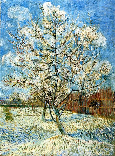 Peach Trees in Blossom, 1888 - Vincent van Gogh
