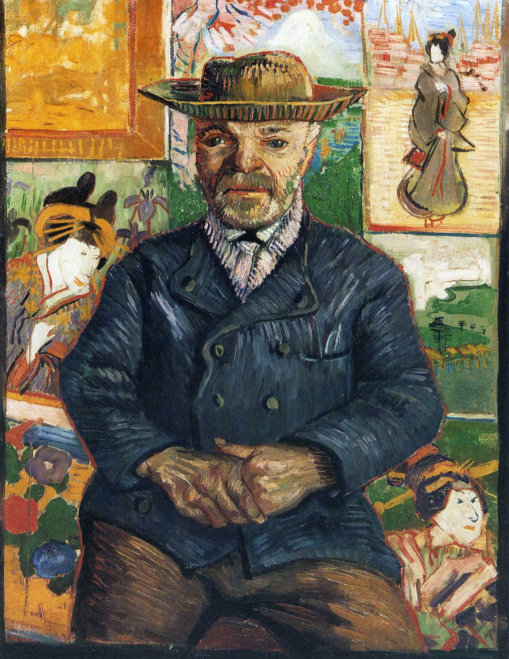 Portrait of Père Tanguy, 1888 - Vincent van Gogh - WikiArt.org