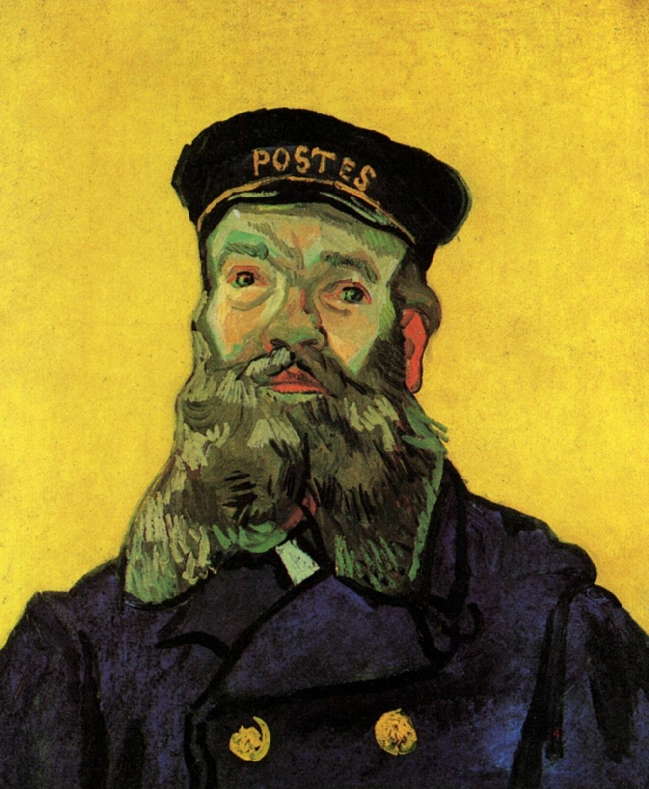 Portrait of the Postman Joseph Roulin - Vincent van Gogh - WikiArt.org
