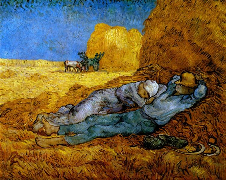 Rest Work (after Millet), 1890 - Vincent van Gogh