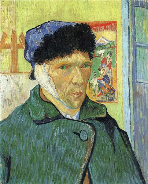 Self Portrait with Bandaged Ear, 1889 - Vincent van Gogh
