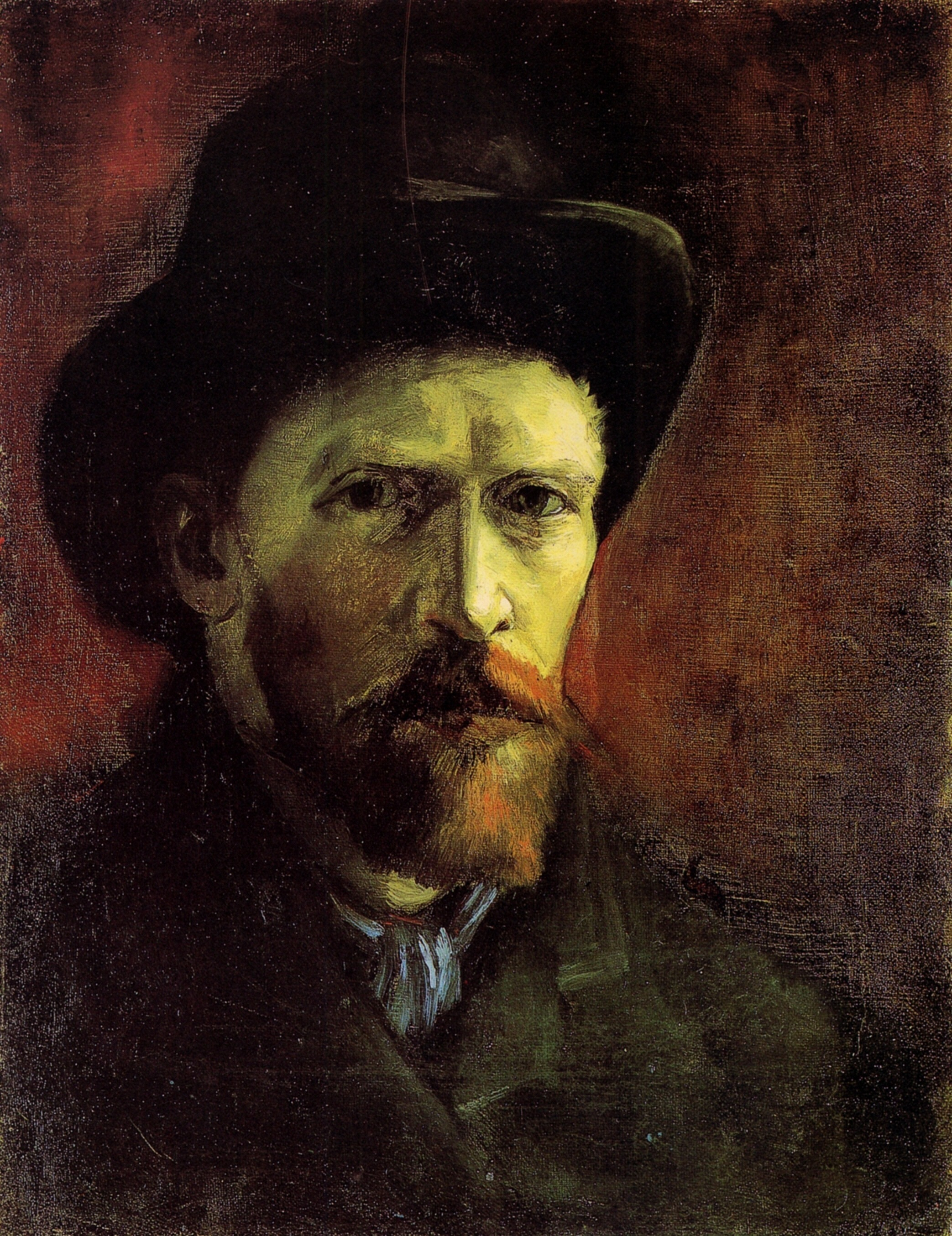 Vincent Van Gogh: Self-Portrait with Dark Felt Hat, 1886