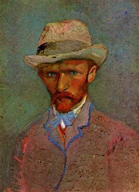 Autorretrato con el sombrero de fieltro gris, Vincent van Gogh