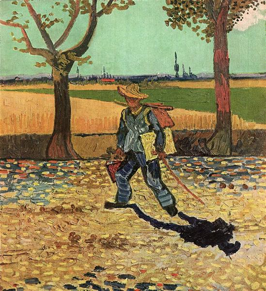 Selfportrait on the Road to Tarascon (The Painter on His Way to Work), 1888 - Vincent van Gogh