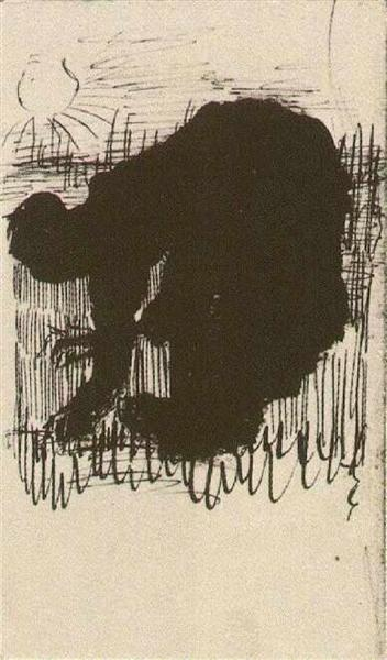 Silhouette of a woman, by Vincent van Gogh,