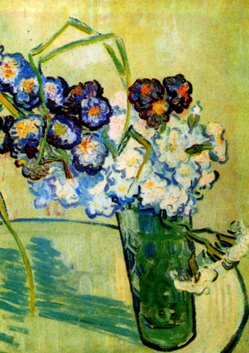 Still Life Glass With Carnations 1890 Vincent Van Gogh