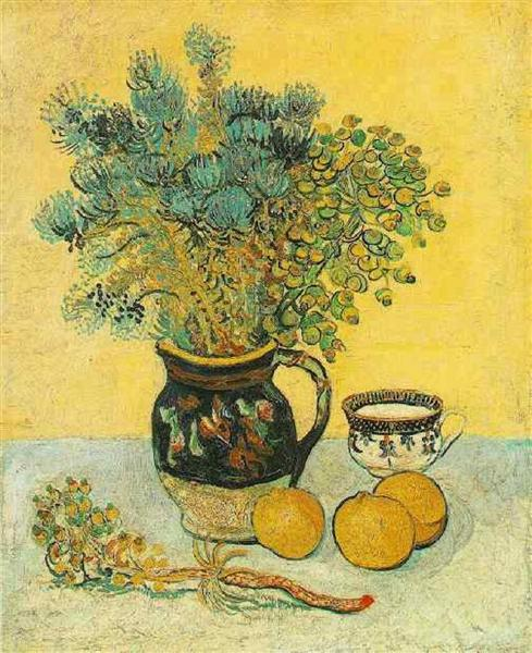 Still Life Majolica Jug with Wildflowers, 1888 - Vincent van Gogh