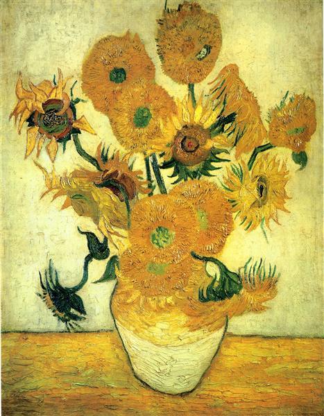 Still Life - Vase with Fourteen Sunflowers, 1889 - Vincent van Gogh
