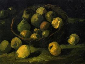 Todavía vida con la cesta de manzanas, Vincent van Gogh