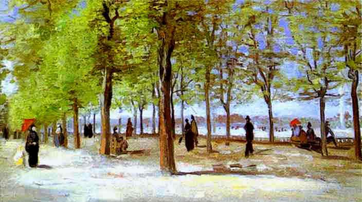 Terrace in the Luxembourg Garden, 1886 - Vincent van Gogh