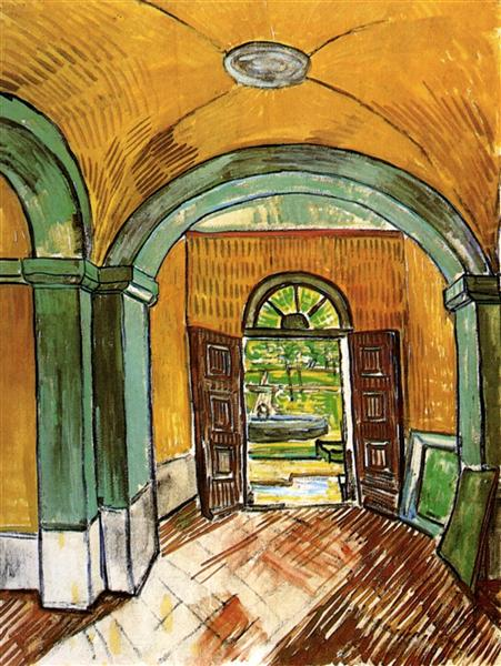 The Entrance Hall of Saint-Paul Hospital, 1889 - Vincent van Gogh
