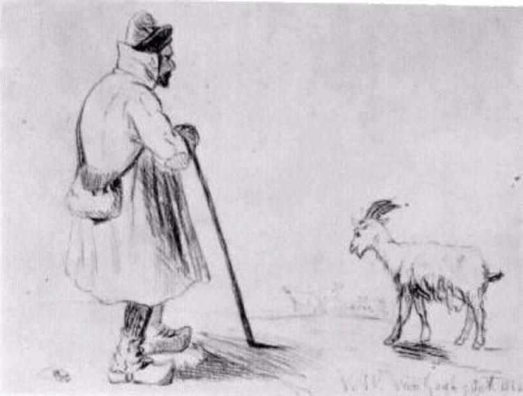 The Goat Herd, 1862 - Vincent van Gogh