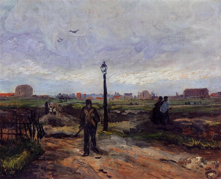 The Outskirts of Paris - van Gogh Vincent