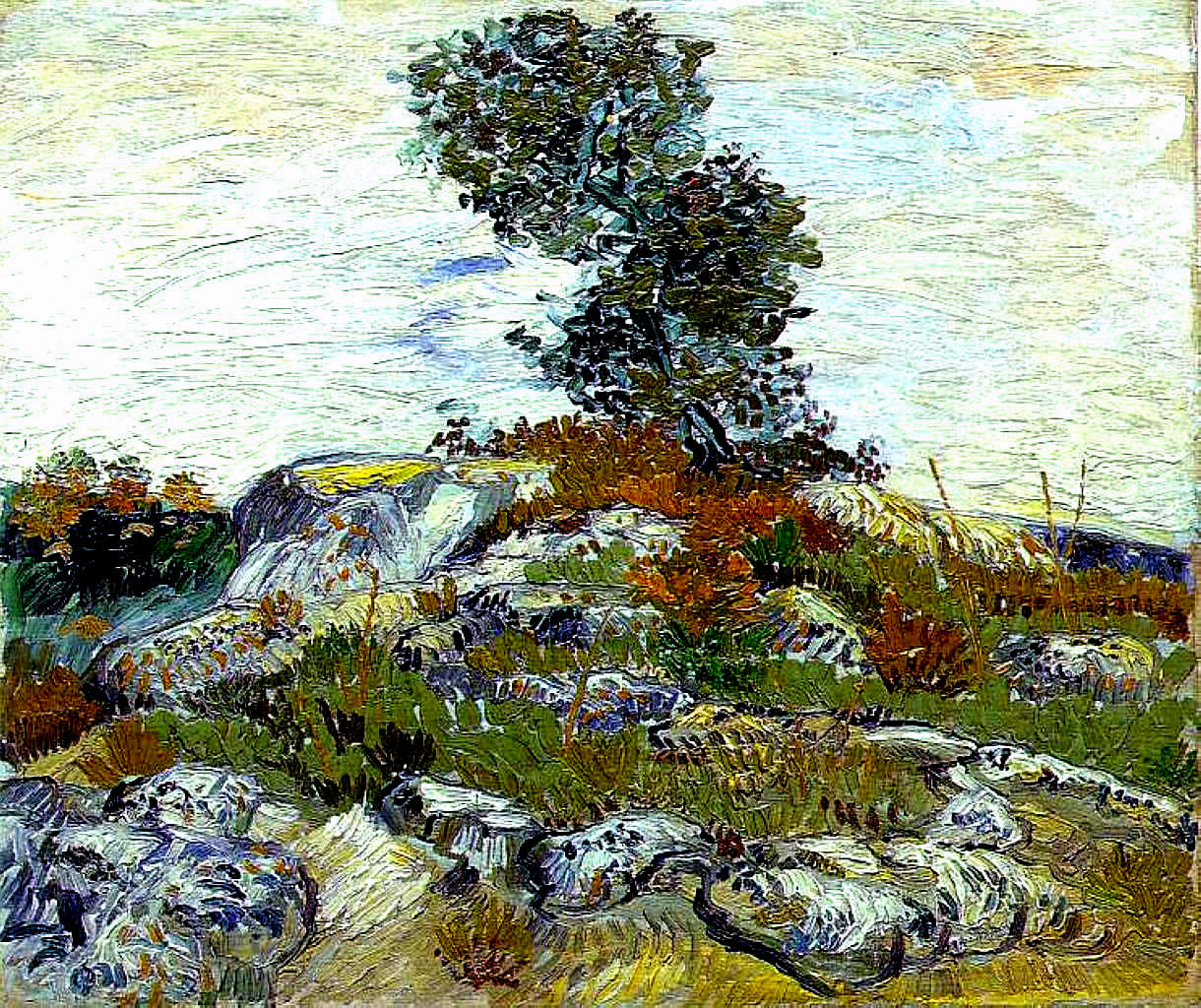 The Rocks With Oak Tree 1888 Vincent Van Gogh Wikiart Org