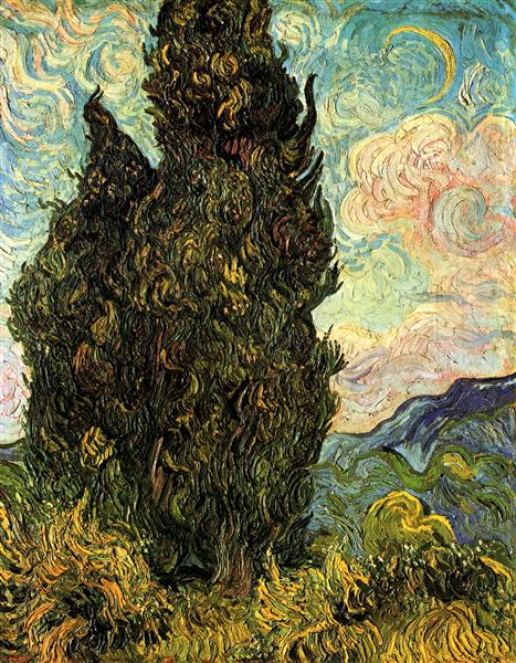 Two Cypresses, 1889 - Vincent van Gogh