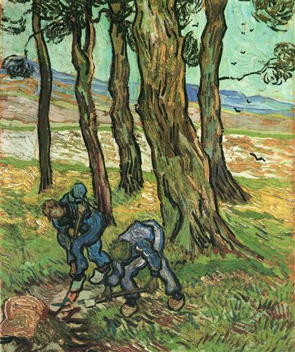 Two Diggers Among Trees  - Vincent van Gogh