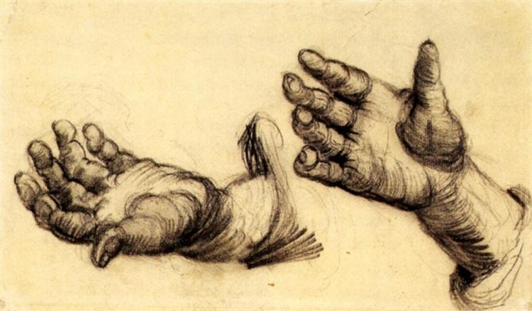 Two Hands, 1884 - Vincent van Gogh
