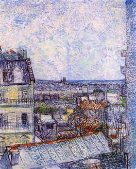 Vista desde la habitación de Vincent en la ruda Le, Vincent van Gogh