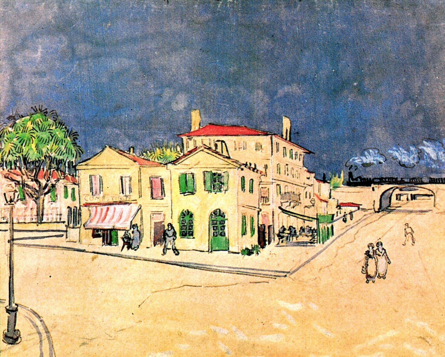 Vincent s House in Arles The Yellow House 1888